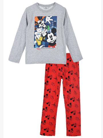 """Disney Mickey Mouse Piżama """"Mickey Mouse"""" w kolorze czerwono-szarym"""