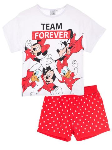 """Disney Minnie Mouse 2-częściowy zestaw """"Minnie Mouse"""" w kolorze biało-czerwonym"""