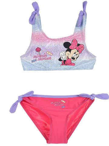 """Disney Minnie Mouse Bikini """"Minnie Mouse"""" w kolorze błękitno-czerownym"""