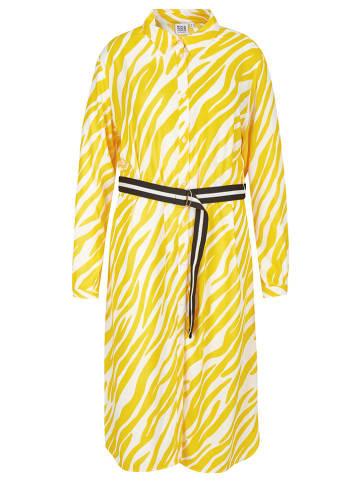 Rock Your Curves by Angelina K. Sukienka w kolorze żółto-białym