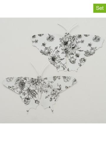 """Boltze 2-delige set: decoratieve figuren """"Anny"""" wit/zwart - (L)40 x (B)28 cm"""