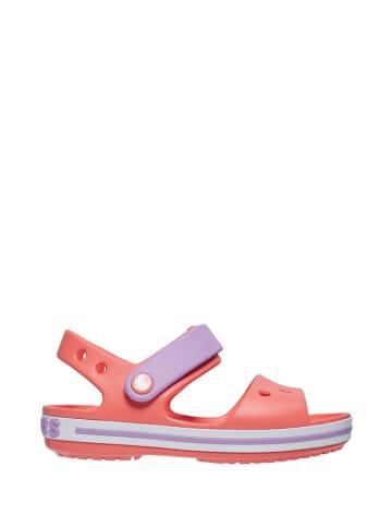"""Crocs Sandały """"Crocband"""" w kolorze pomarańczowo-fioletowym"""