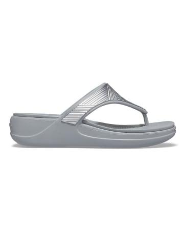 """Crocs Teenslippers """"Monterey"""" zilverkleurig"""