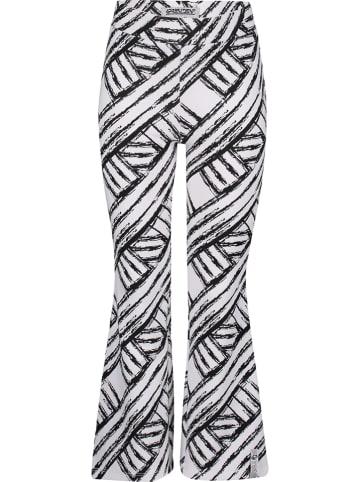 """4PRESIDENT Spodnie """"Karissa"""" w kolorze czarno-białym"""