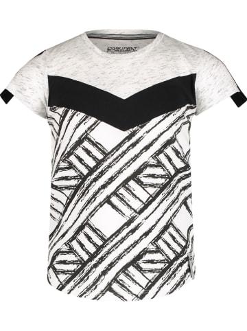 """4PRESIDENT Koszulka """"Keisha"""" w kolorze jasnoszaro-czarnym"""