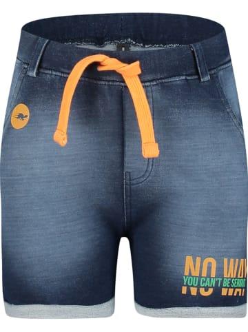"""4PRESIDENT Szorty dżinsowe """"Parker"""" w kolorze granatowo-pomarańczowym"""