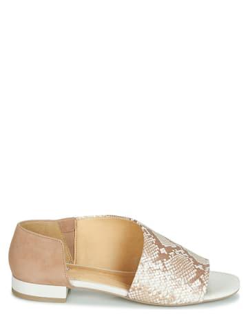 """Geox Skórzane sandały """"Wistrey"""" w kolorze jasnobrązowo-złotym"""