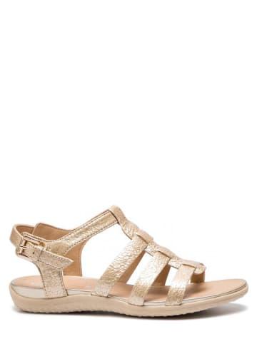 """Geox Leren sandalen """"Sanvega"""" goudkleurig"""