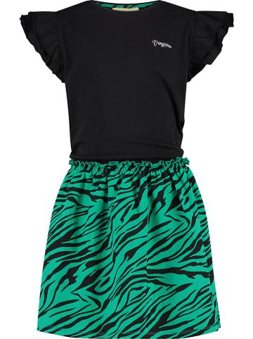 """Vingino Sukienka """"Parnita"""" w kolorze czarno-zielonym"""