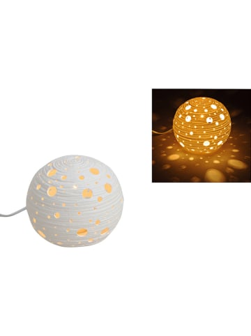 "G. Wurm Tafellamp ""Kogel"" wit - (H)15 x Ø 16 cm"