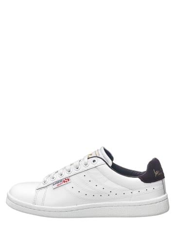 """Superga Skórzane sneakersy """"Comfleau"""" w kolorze biało-fioletowym"""