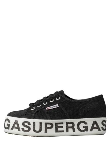 """Superga Sneakersy """"Cotw Gltter Lettering"""" w kolorze czarnym"""