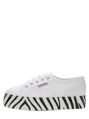 """Superga Sneakersy """"Cotw Printed Foxing"""" w kolorze białym"""
