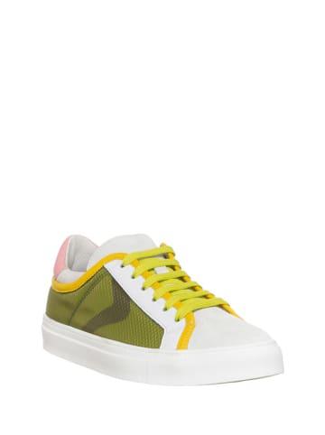 Voile Blanche Sneakersy w kolorze biało-zielonym ze wzorem