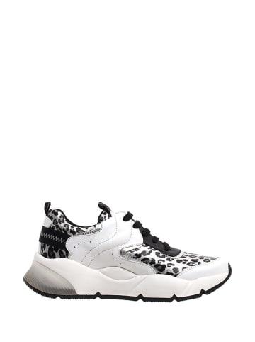 Voile Blanche Sneakers in Weiß/ Schwarz/ Bunt