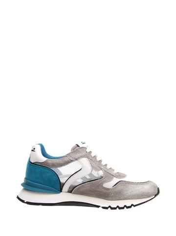 Voile Blanche Skórzane sneakersy w kolorze szaro-niebiesko-białym