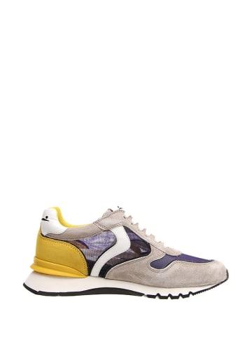 Voile Blanche Skórzane sneakersy w kolorze szaro-żołto-niebieskim