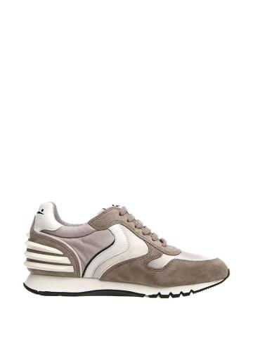 Voile Blanche Skórzane sneakersy w kolorze szaro-białym