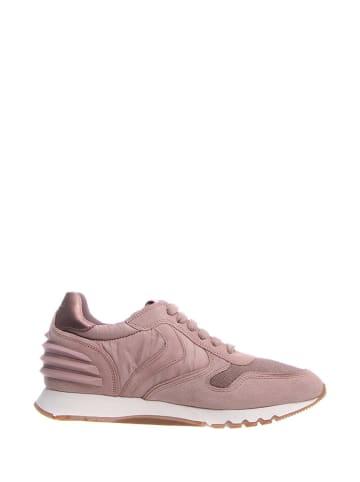 Voile Blanche Skórzane sneakersy w kolorze różowym