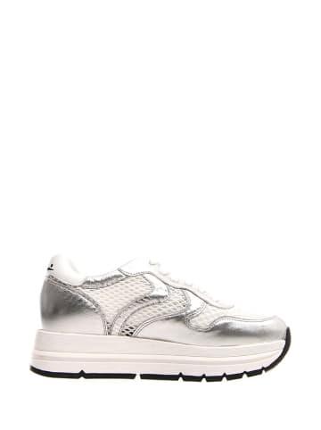 Voile Blanche Sneakersy w kolorze srebrno-białym