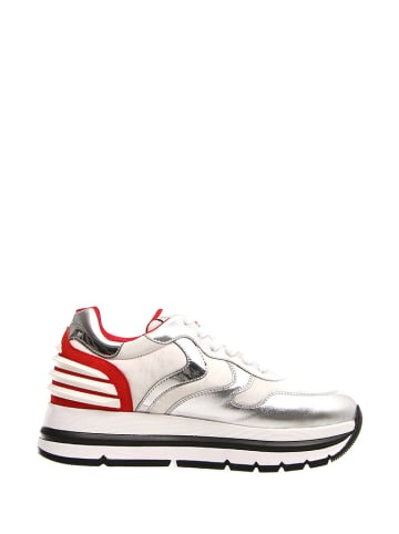 Voile Blanche Sneakers in Weiß/ Rot/ Silber