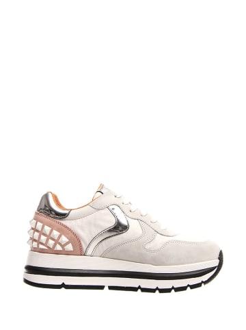Voile Blanche Sneakersy w kolorze biało-szaro-różowym
