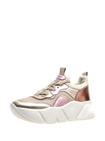 Voile Blanche Sneakersy w kolorze różowo-złotym