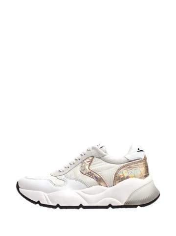 Voile Blanche Sneakersy w kolorze złoto-białym