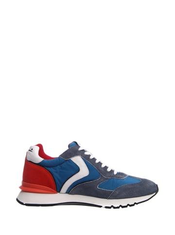 Voile Blanche Leder-Sneakers in Weiß/ Rot/ Blau