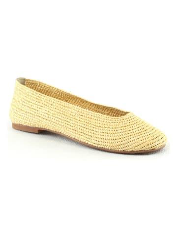 "Manoukian shoes Ballerina's ""Sally"" geel"