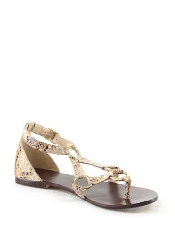 """Manoukian shoes Leren sandalen """"Salma"""" beige"""