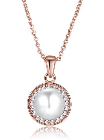 Park Avenue Rosévergold. Halskette mit Swarovski Kristallen - (L)42 cm