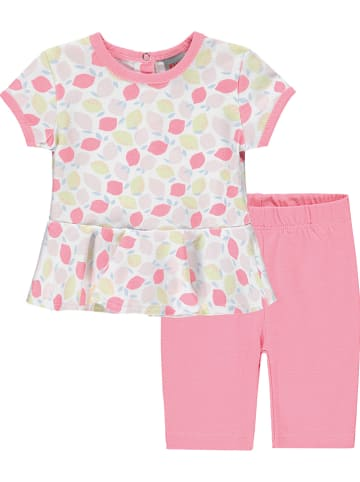 Kanz 2tlg. Outfit in Rosa/ Weiß