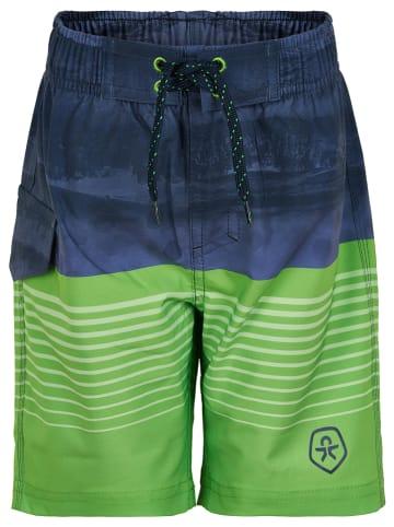 Color Kids Szorty kąpielowe w kolorze niebiesko-zielonym