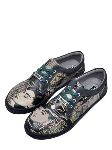 "Dogo Sneakers ""Beautiful Eyes"" zwart/meerkleurig"