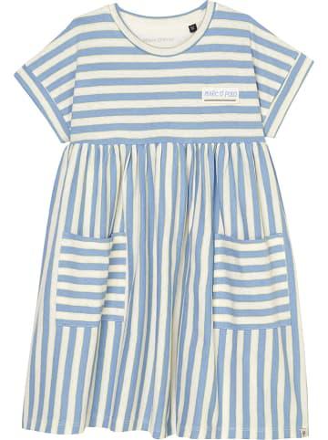 Marc O'Polo Junior Sukienka w kolorze błękitno-białym