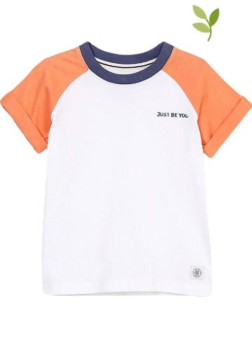 Marc O'Polo Junior Koszulka w kolorze biało-pomarańczowym