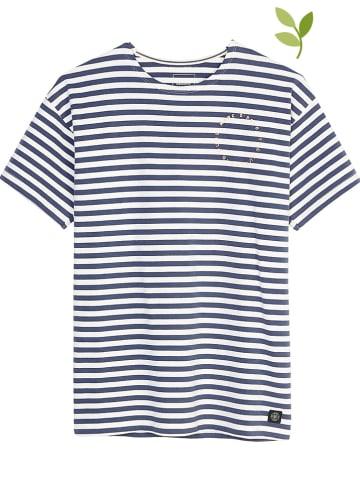 Marc O'Polo Junior Koszulka w kolorze granatowo-białym