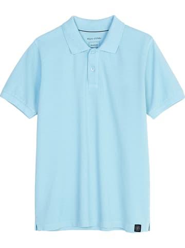 Marc O'Polo Junior Koszulka polo w kolorze błękitnym