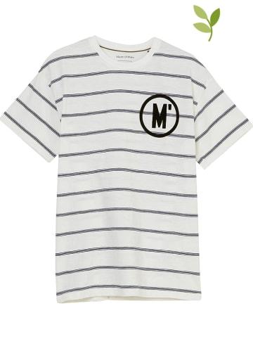 Marc O'Polo Junior Koszulka w kolorze biało-czarnym