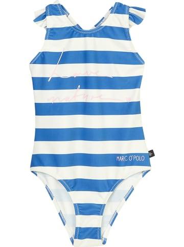 Marc O'Polo Junior Badeanzug in Blau/ Weiß