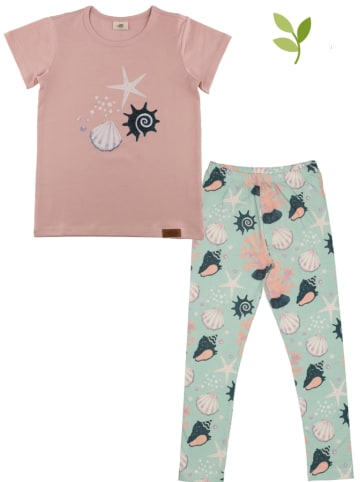 Walkiddy 2tlg. Outfit in Rosa/ Mint