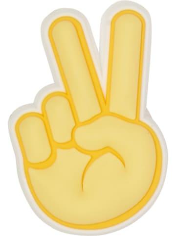 """Crocs Schoensieraad """"Peace Hand Sign"""" geel"""