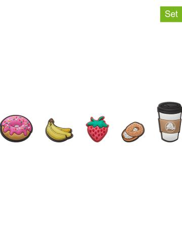 """Crocs 5-delige set: schoensieraden """"Breakfast"""" meerkleurig"""