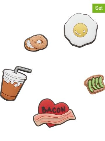 """Crocs 5-delige set: schoensieraden """"Breakfast Food"""" meerkleurig"""