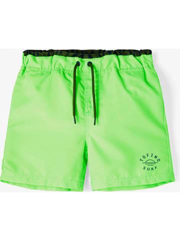 """Name it Szorty kąpielowe """"Zillip"""" w kolorze zielonym"""