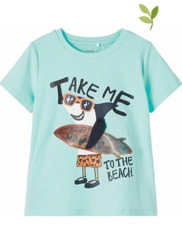 """Name it Koszulka """"Fano"""" w kolorze turkusowym"""