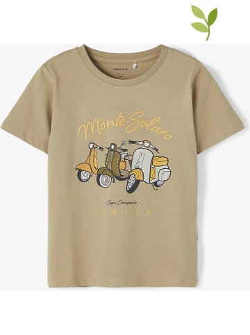 "Name it Koszulka ""Hadwinn"" w kolorze beżowym"