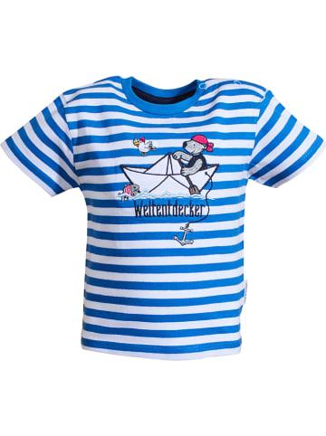 "Salt and Pepper Shirt ""Ahoy"" in Blau/ Weiß"