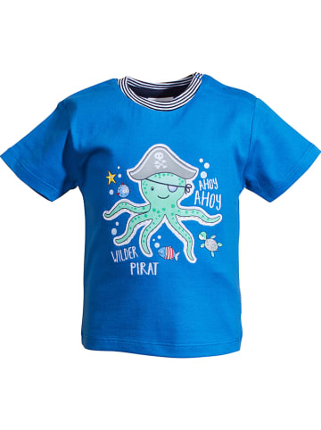 "Salt and Pepper Shirt ""Ahoy"" in Blau"
